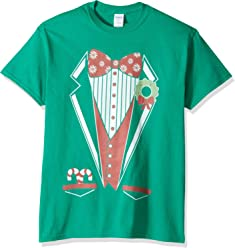 238e66a34c32a9 Holiday Men's Christmas Tux Cosplay T-Shirt