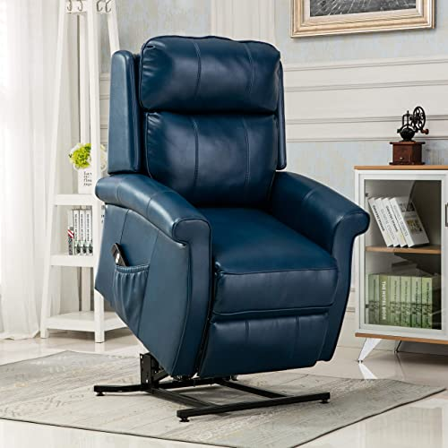 Source One Walter Navy Blue Traditional Recliner