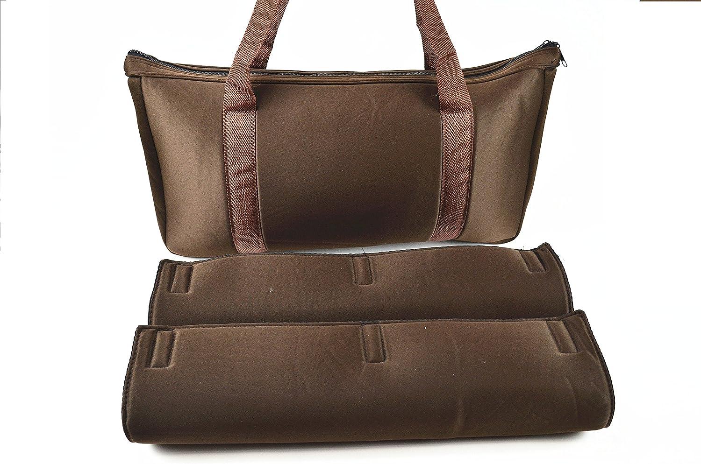 C/&H Solutions Coffee Color Mah Jongg Soft Bag Empty Bag Mah jongg carry bag By