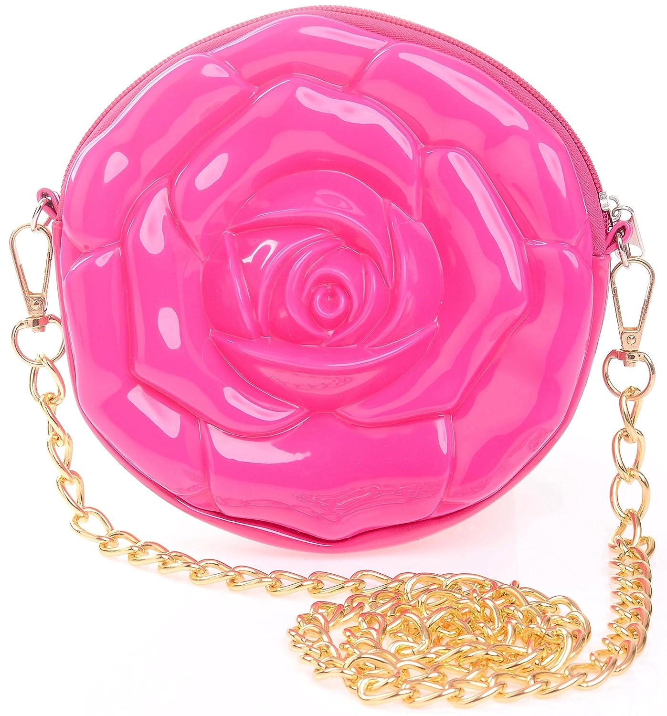 Amazon.com: misasha Flor Crossbody Moda bolsa para Niñas ...