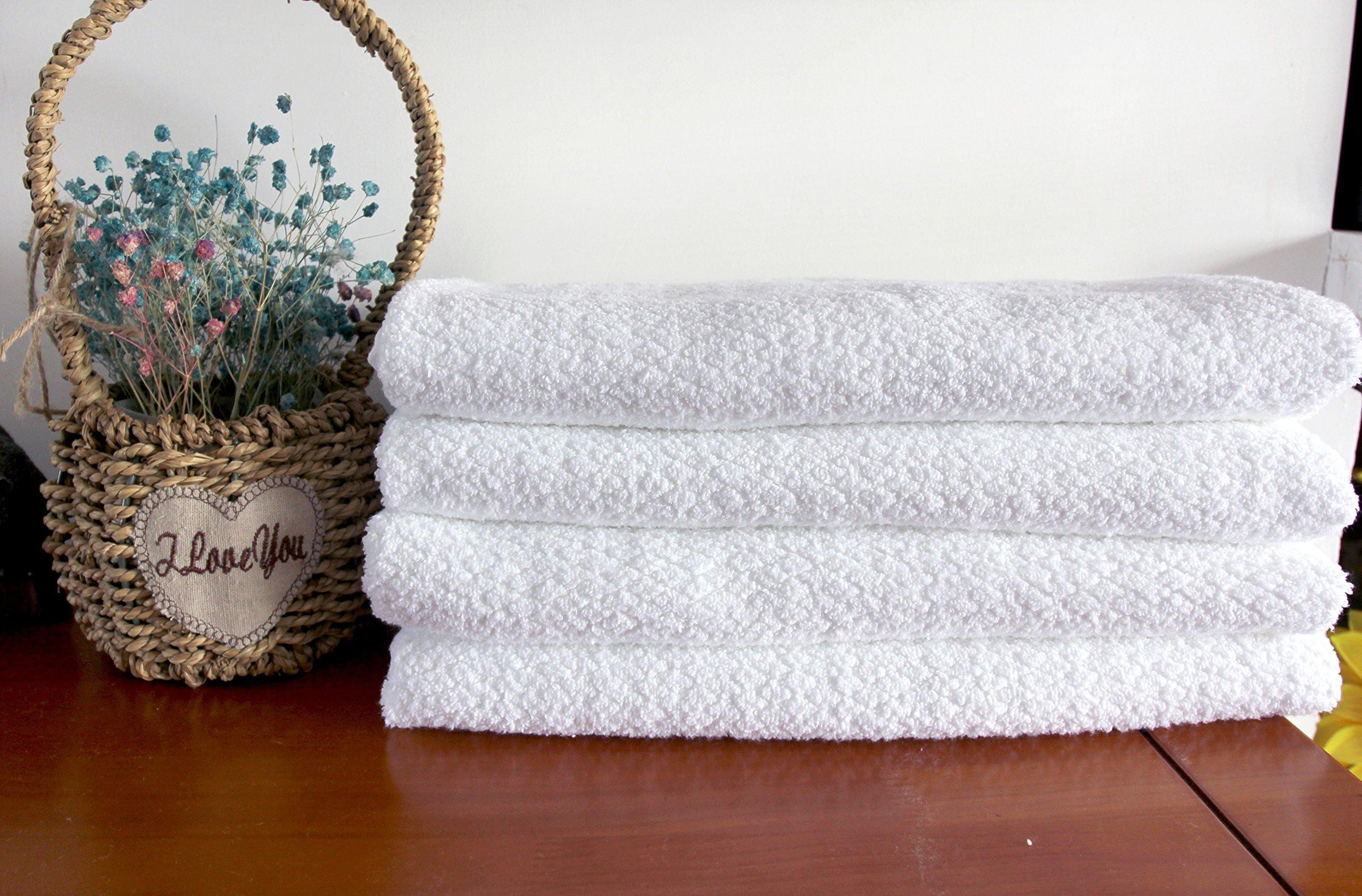 Everplush Diamond Jacquard Bath Sheet 2 Pack in White by Everplush (Image #5)