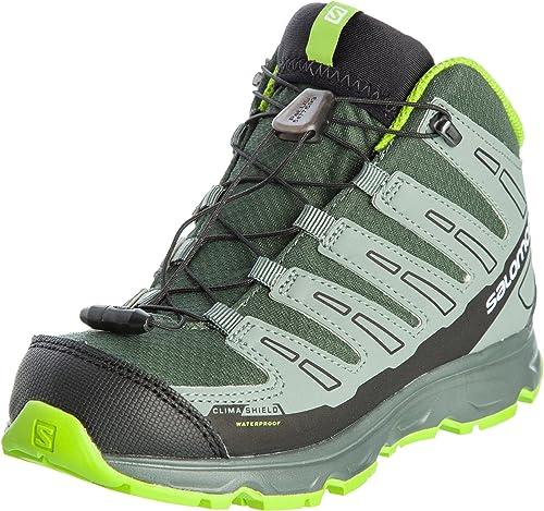 Salomon Synapse Mid CSWP j Vert Gris Enfant Chaussures Running Trail