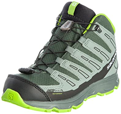7b5dcdb6cbd99 Salomon synapse mid cswp j vert gris enfant chaussures running trail Salomon  T 34
