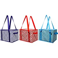 Earthwise Deluxe Collapsible Reusable Shopping Box (Set of 3)