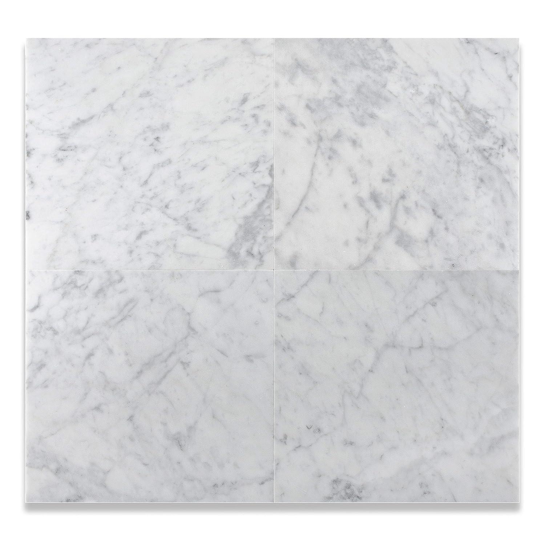 Carrara White 12 X 12 Marble Polished Tile Amazon