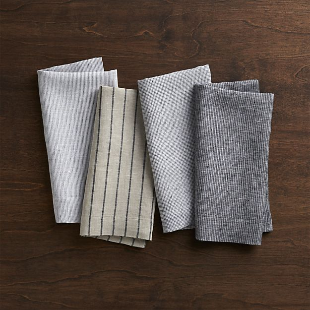 Set of 4 Suits Napkins in Napkins | Crate and Barrel