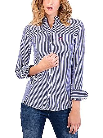 POLO CLUB Camisa Mujer Margot Academy Azul S: Amazon.es: Ropa y ...