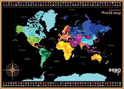 Amazon scratch off map of the world with states outlined for scratch off map of the world with states outlined for usa and others includes gumiabroncs Choice Image