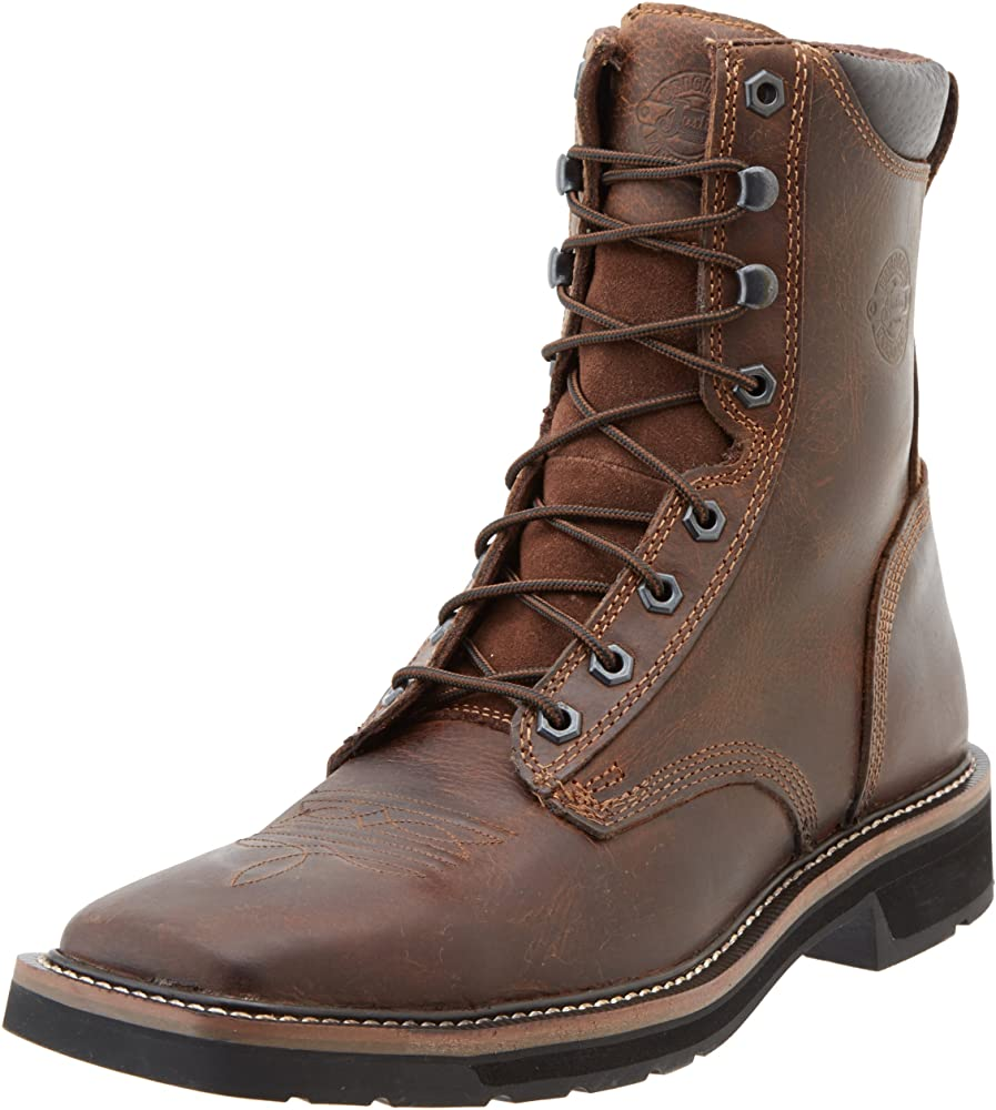 Pulley Soft Toe Work Boots, Rugged Tan
