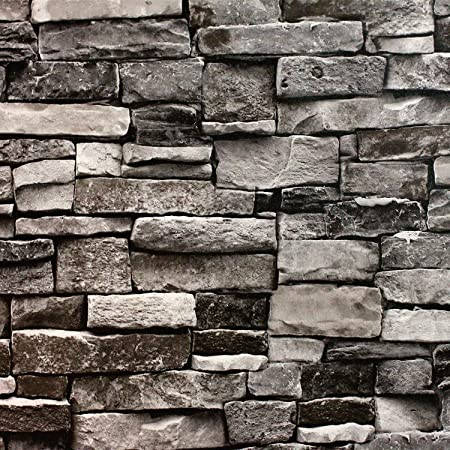 Blooming Wall Faux Stone Brick Wall Mural Wallpaper Vinyl For Livingroom Bedroom 208 In328 Ft57 Sqft