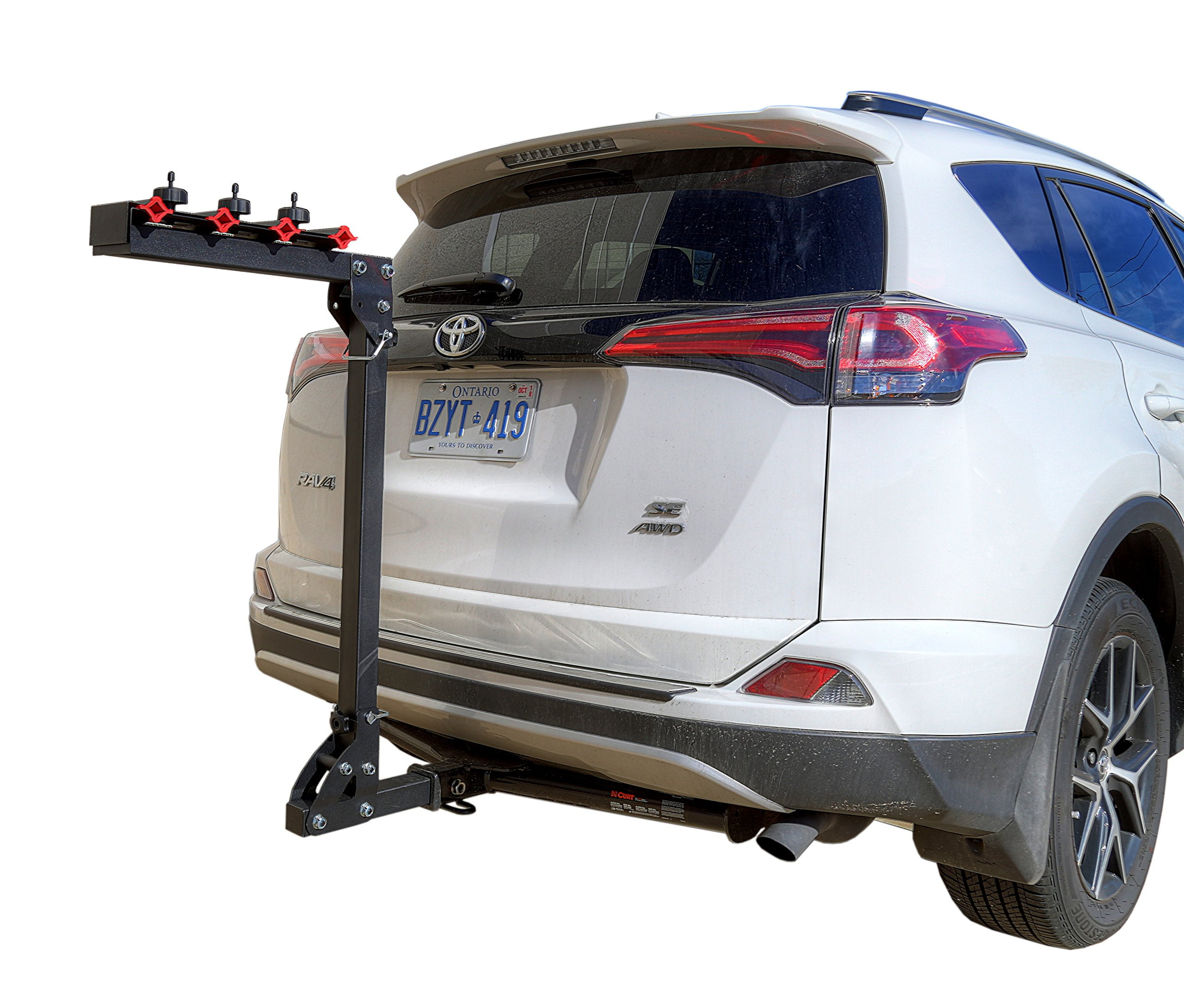 DK2 BCR390 Hitch Mounted 4 Bicycle Carrier – 2-Inch Receiver