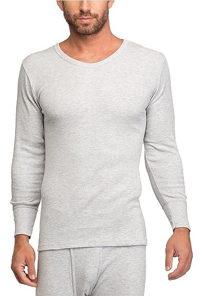 Timone Camisetas Térmicas 100% Algodón Manga Larga Ropa Interior Hombre 15085 (Gris, S