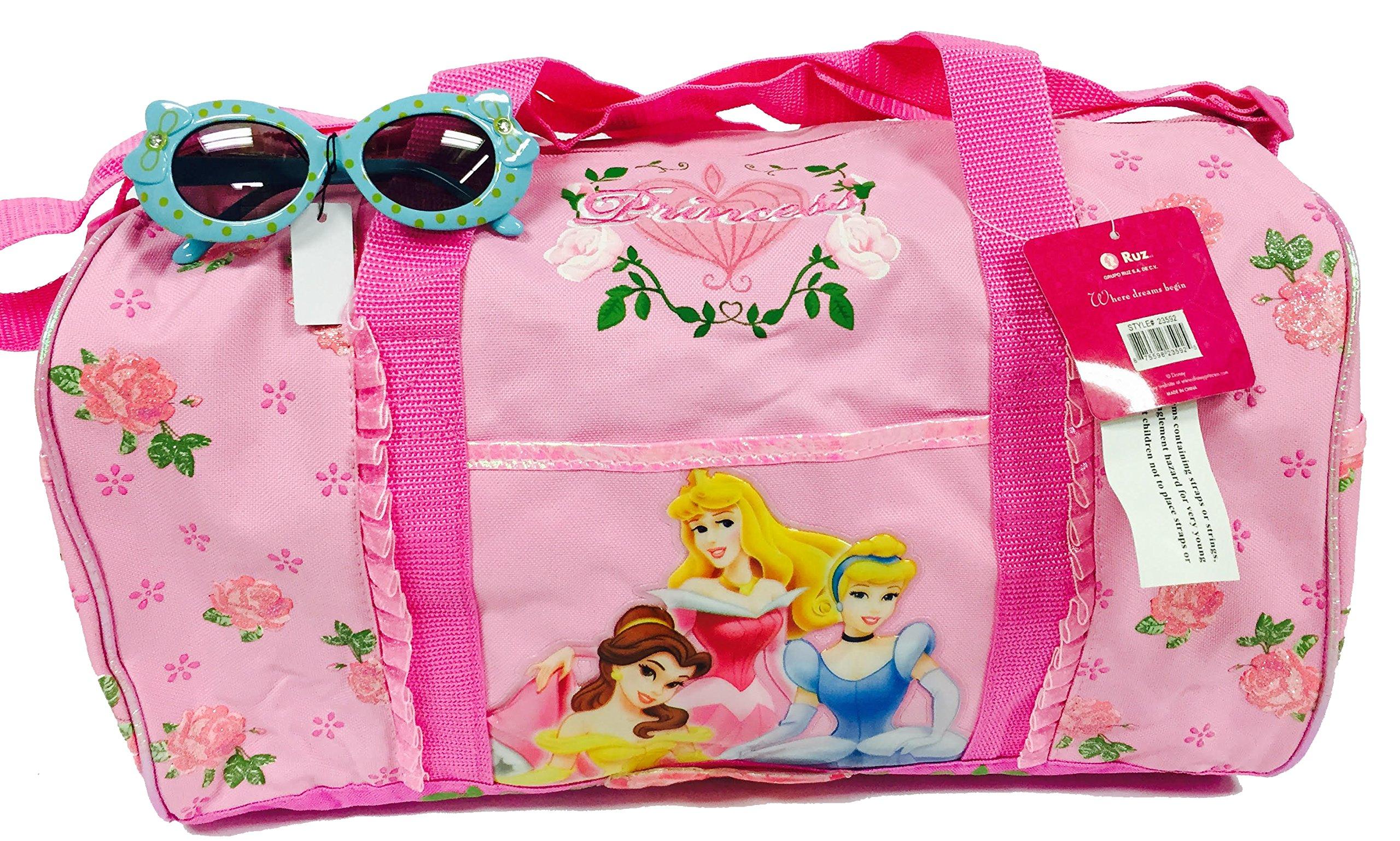 Disney Princess Duffle Diaper Bag and One Stylish Sunglasses Set