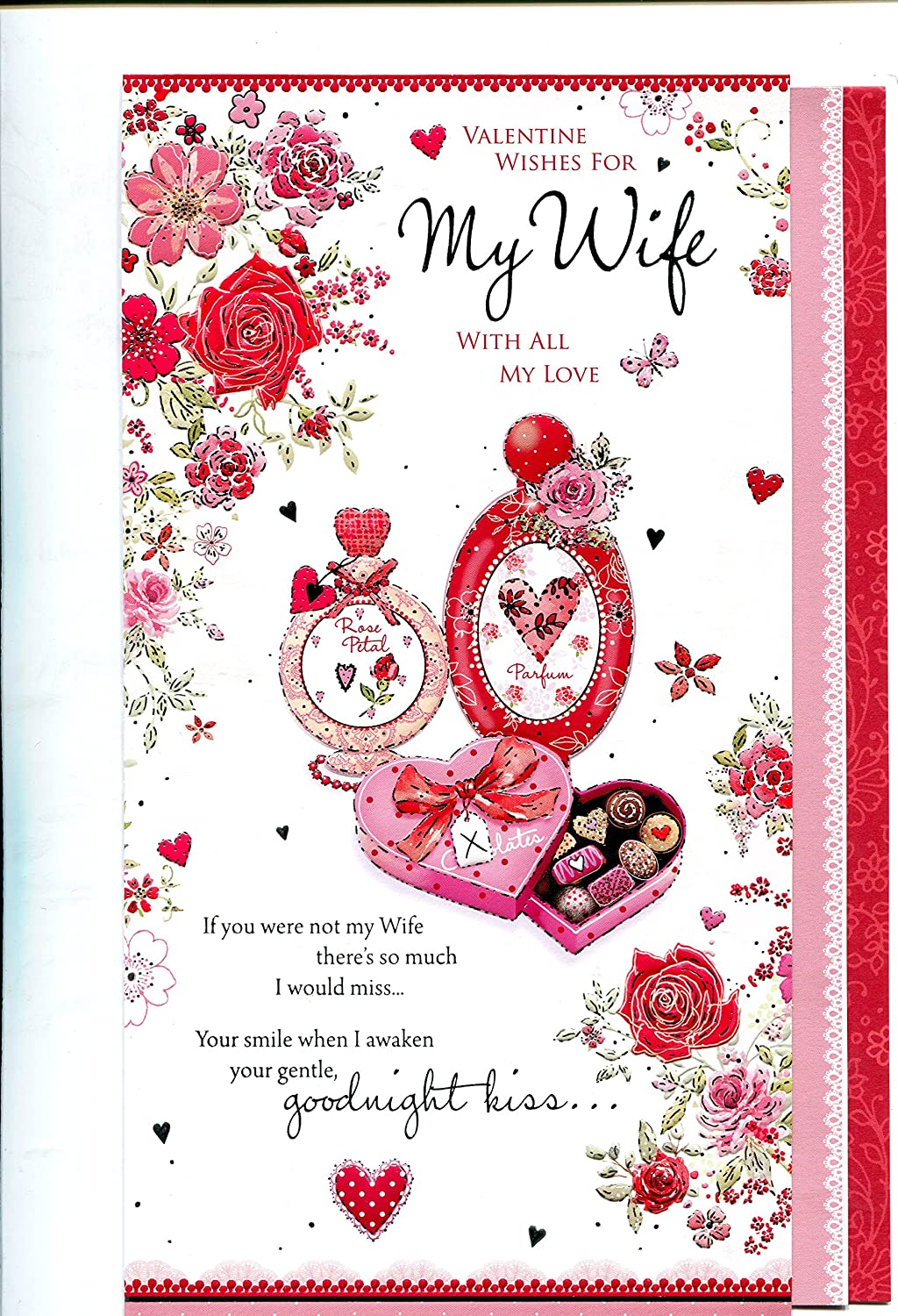 Valentines Day Card Valentines Wishes For My Wife With All My Love