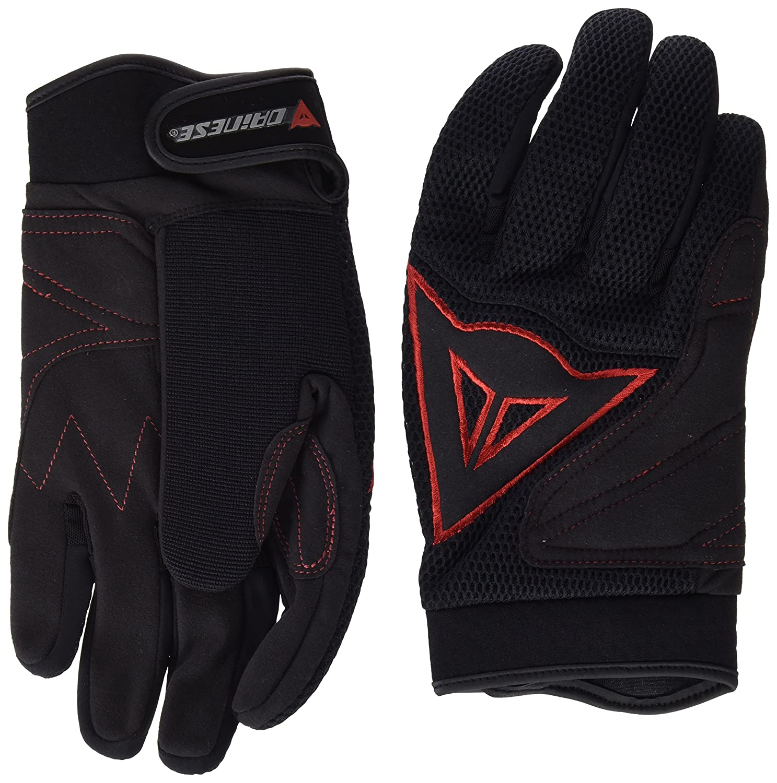 Dainese 3819262 B78 – Handschuh Tex Long schwarz rot XXL