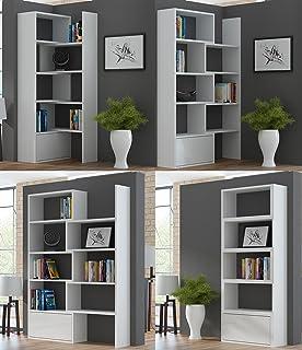 VENUS Bookcase Room Divider Free Standing Shelving Unit for