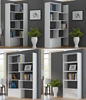 BMF PACO EXTENDABLE BOOKSHELF HOME OFFICE STUDY SYSTEM IN 5 COLOURS