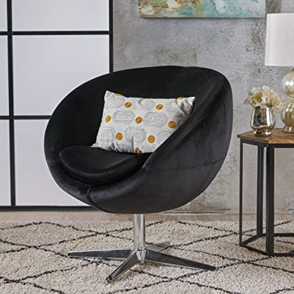 Isabella Modern Black Velvet Chair
