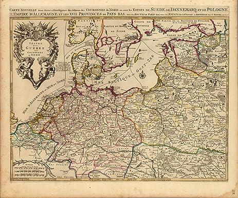 Amazon world atlas map teatre de la guerre des couronnes du world atlas map teatre de la guerre des couronnes du nord 1708 historic gumiabroncs Image collections