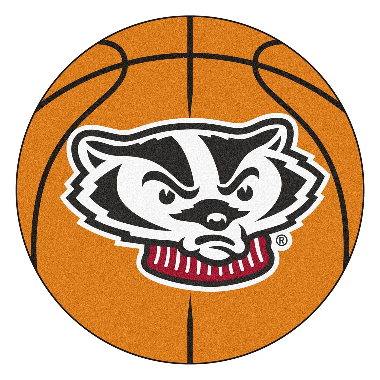 Fan Mats University of Wisconsin Badgers Basketball Area Rug