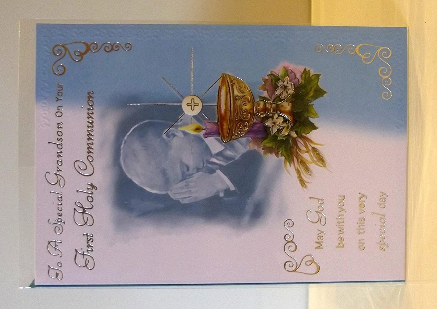 Grandson First Holy Communion Card Grandson 1st Holy Communion Card
