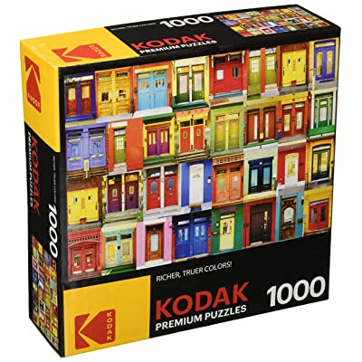 KODAK Premium Puzzles Colorful Montreal Doors Jigsaw Puzzle: Toys & Games