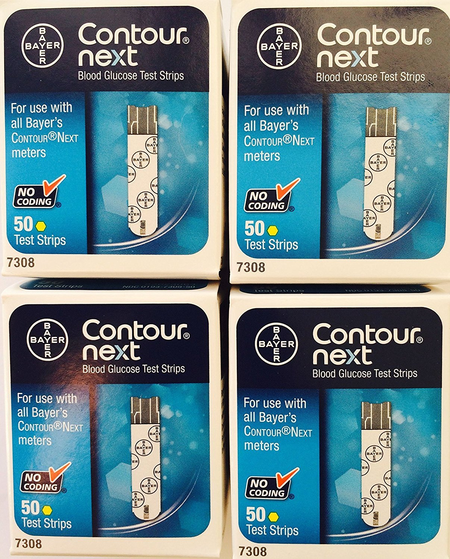 QTY 200 Bayer 7310 Contour Next Blood Glucose Test Strips New