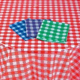 Fun Express - Lightweight Asst Check Tablecloths for Party - Party Supplies - Table Covers - Print Table Covers - Party - 12 Pieces