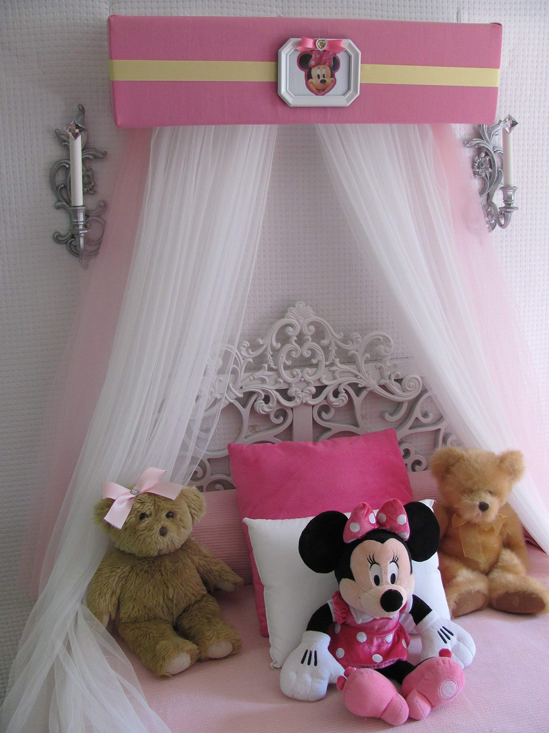 Disney Minnie Mouse Crib canopy cornice BED teester FULL Twin 30 inch Pink nursery So Zoey Boutique by So Zoey Boutique (Image #4)