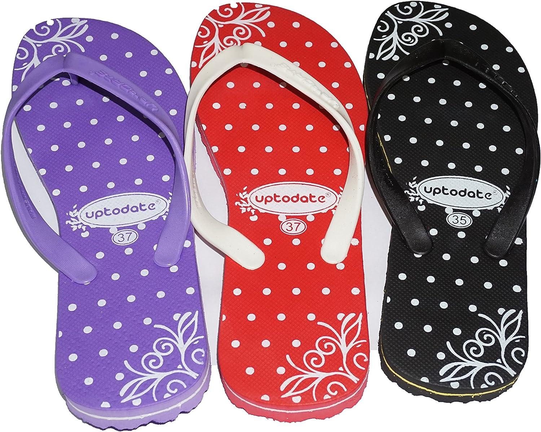 36, Black GeeShoeShop Rubber Flip Flops Thong Sandal Beach Slipper