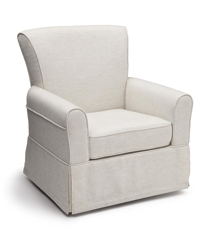 Amazon.com: Delta Children Upholstered Glider Swivel Rocker Chair, Sand:  Baby