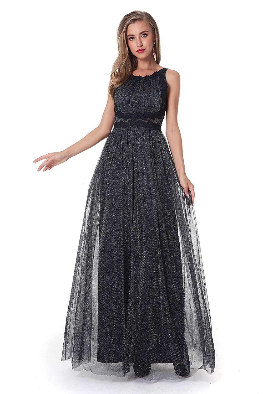 Womens Floral Lace Vintage Tule Dual Wedding Evening Party Dress