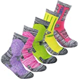 YUEDGE 5 Pairs Women's Wicking Cushion Multi Performance Hiking Trekking Walking Socks Year Round