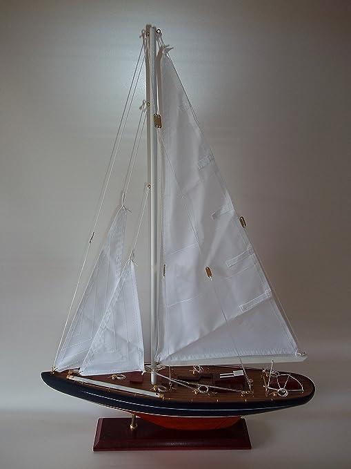 65cm Segelschiff Modellschiff Segelboot Holzmodell Schiff Modell Geschenk Deko