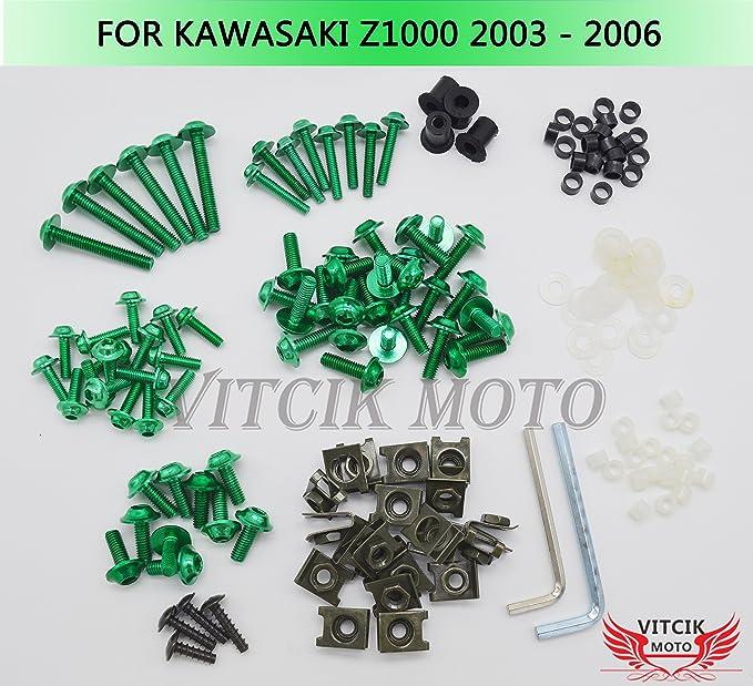 For Kawasaki Z1000 2003 2004 2005 2006 Complete Fairing Bolts Body Screws Kit