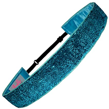 Hair Accessories United Pole Dance Headband Black Sparkle Clothing, Shoes, Accessories
