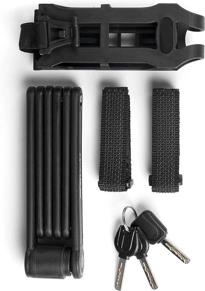 Provelo candado para bicicleta, negro, con 6 secciones, candado ...