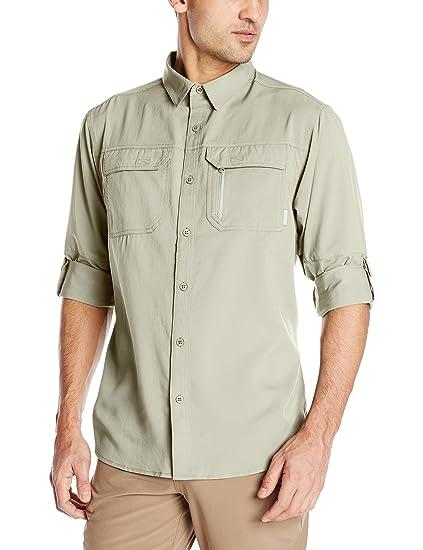 6feb9102070 Amazon.com : Columbia Sportswear Men's Voyager Long Sleeve Shirt ...