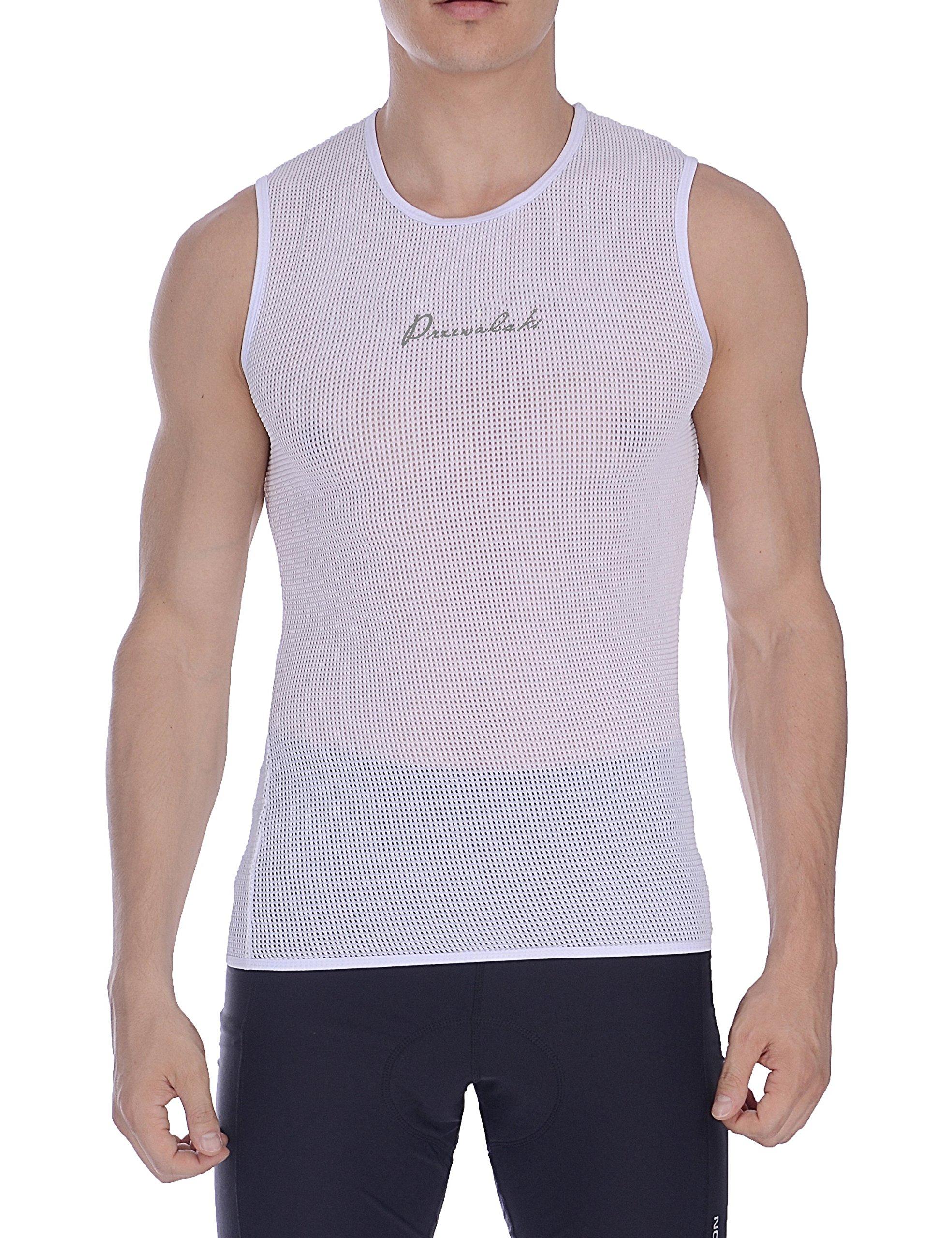 Przewalski Men's Sleeveless Cycling Bike Base Layer Undershirt, Breathable, Superlight and Moisture Wicking Vests