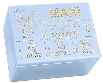 Holzkiste Mit Gravur Personalisiert Mit Geburtsdaten