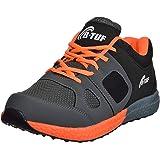 B-Tuf STAMINA AntiSkid Mesh Marathon Running Casual Outdoor Sports Shoes Men's/Women's (Gray/Black/Orange)