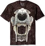 The Mountain Unisex Adult Sabertooth Skull Dinosaur T Shirt