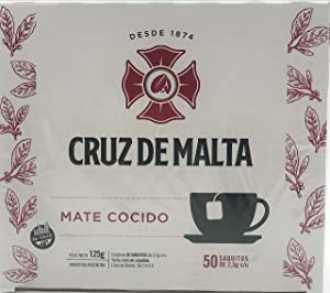 Cruz de Malta Mate Cocido - Yerba Mate - 50 Tea Bags