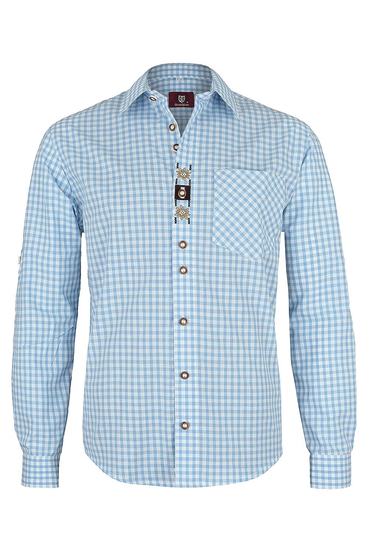 OS-Trachten Herren Trachtenhemd Hektor hellblau H040054