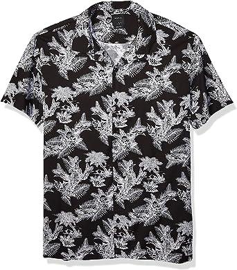 RVCA Paradise Parrot Short Sleeve Woven Button Front Shirt Camisa Abotonada para Hombre: Amazon.es: Ropa y accesorios