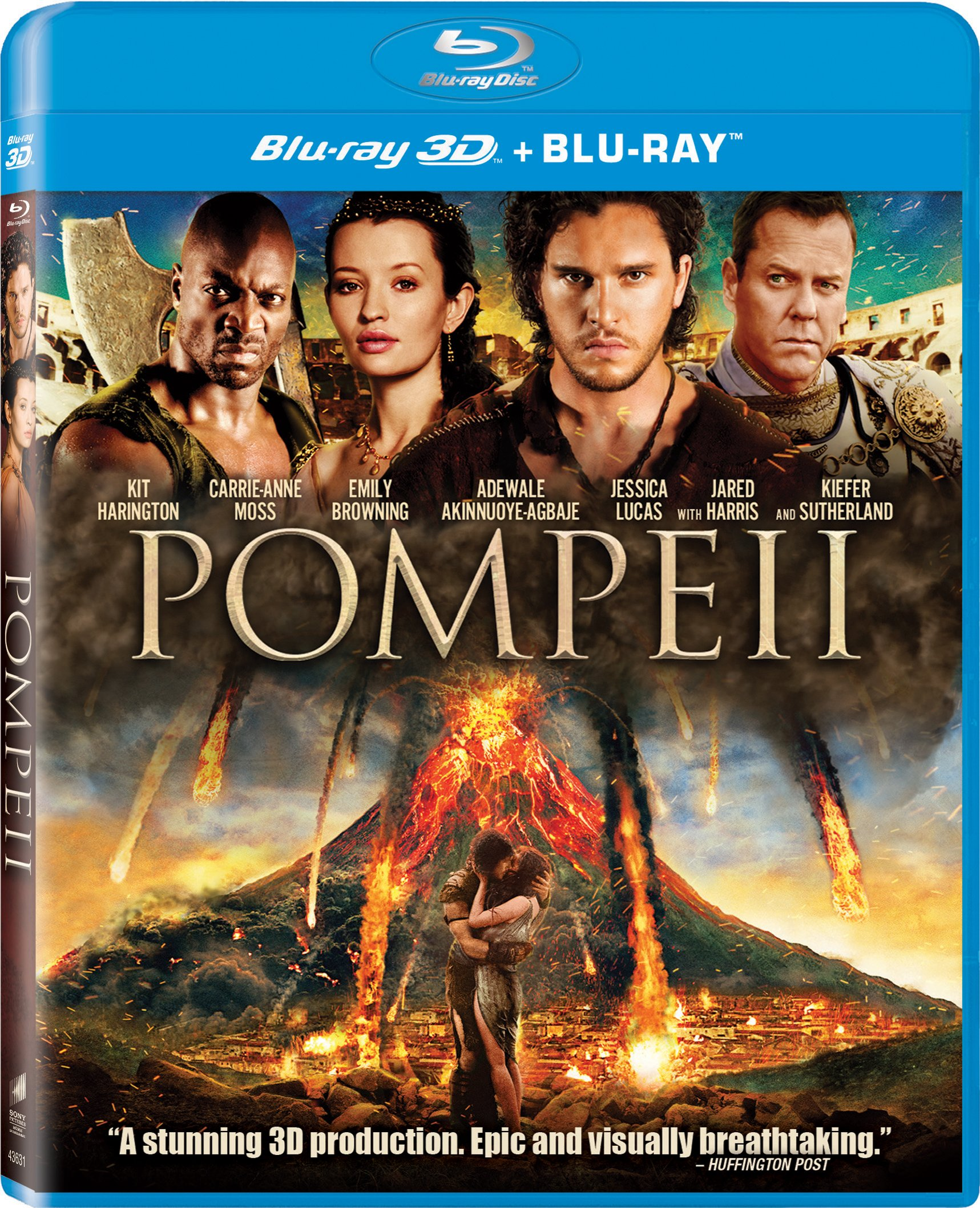 Blu-ray 3D : Pompeii (Ultraviolet Digital Copy, , Dolby, AC-3, Widescreen)
