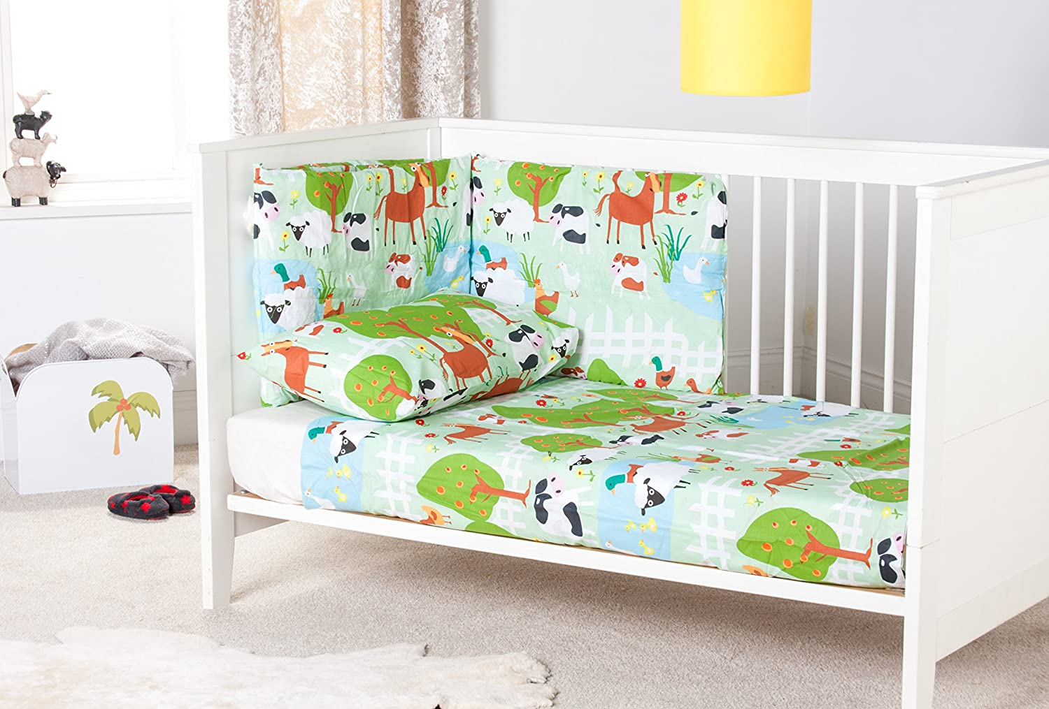 Ready Steady Bed Le Farm Design Nursery Cot Bumper Bedding Set