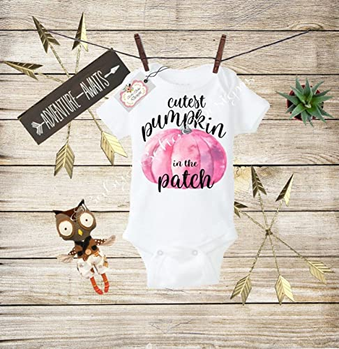 Personalized baby outfit Pumpkin shirt Baby Girl Fall Outfit pumpkin baby-Cutest Pumpkin in the Patch Baby Girl Thanksgiving outfit