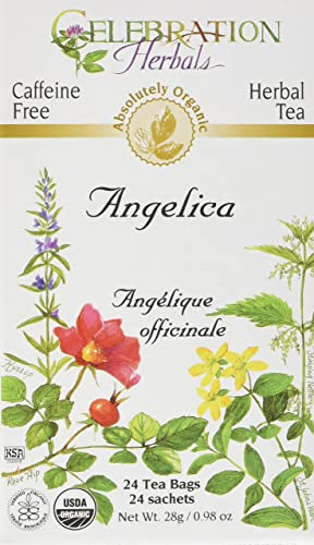 CELEBRATION HERBALS Angelica Root Organic 24 Bag, 0.02 Pound