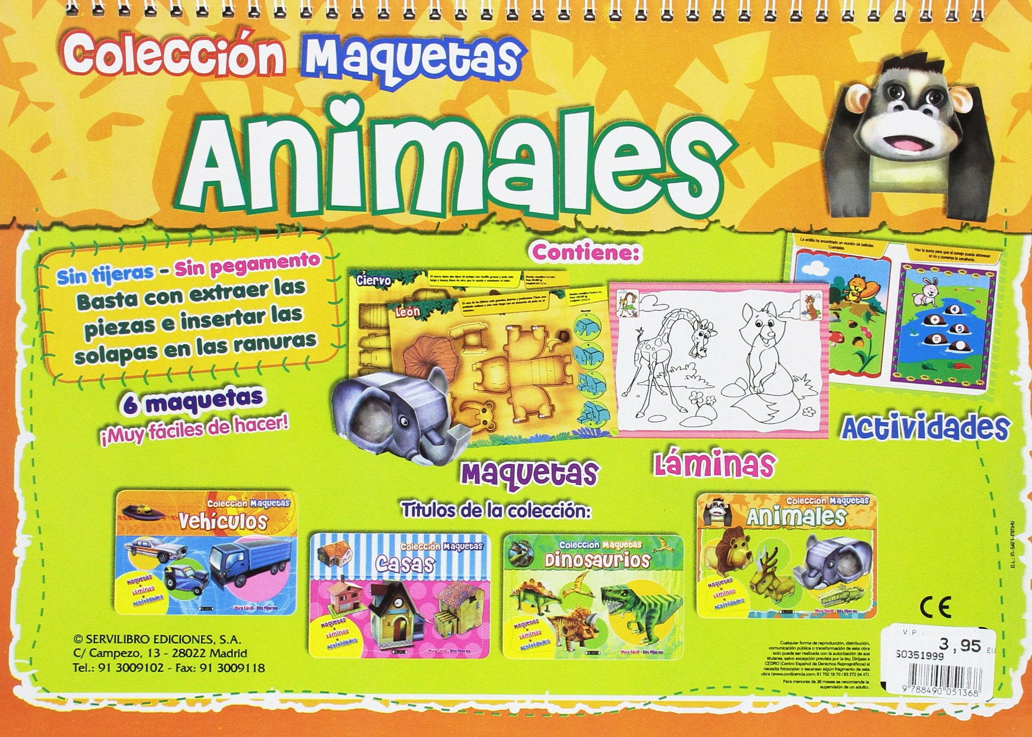 ANIMALES DINOSAURIOS: 9788490051368: Amazon.com: Books